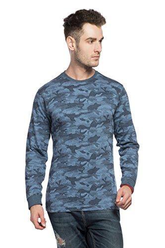 Alan Jones Military Camouflage Men's Round Neck Full Sleeve Cotton T-Shirt