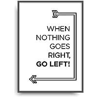 Kunstdruck NOTHING GOES RIGHT Poster Bild ungerahmt DIN A4