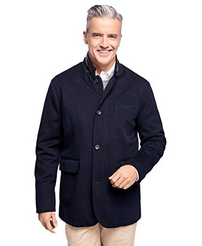 Brooks Brothers Herren 's 100% Wolle Full Zip Hybrid Jacke Navy Blue Small - 100% Wolle Jacke