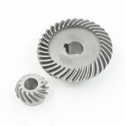 sourcing map Reparatur Teil Spiral Kegelgetriebe Ritzel Set für LG 100 Winkelschleifer de DE de (Kegelradgetriebe-schleifer)