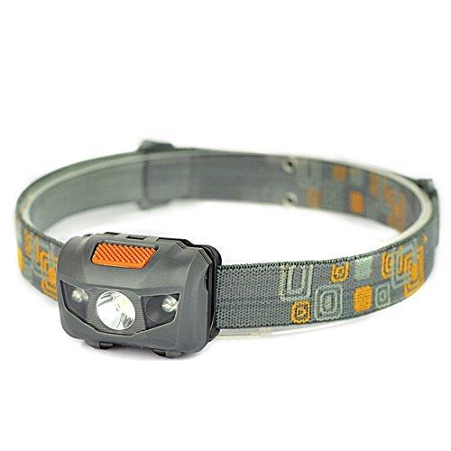 Meyoung LED-Kopflampe Weiß + 2rote LEDs, 4Modi, 300Lumen, Wasserdicht, für Rennen, Klettern,...