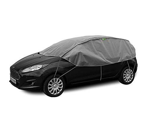 Winter-AUTOPLANE S-M - Schutzplane Sonnenplane-Schutz vor Sonne und Frost geeiget für Opel Corsa E ab 2014