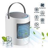 ZJWAI Mobile Klimageräte Air Cooler 3 in 1 Mini Luftkühler Raumluftkühler Luftbefeuchter Luftreiniger mit USB Anschluß 3 Geschwindigkeiten Tragbare Klimaanlage für Büro Garage und Haus