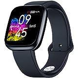ساعة ذكية زيبليز كريستال 3 لمراقبة الصحة والرياضية، IP67 اسود