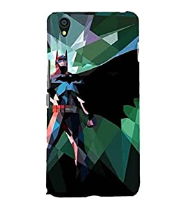For OnePlus X :: One Plus X abstract man, cartoon, abstract, black backgound Designer Printed High Quality Smooth Matte Protective Mobile Case Back Pouch Cover by APEX