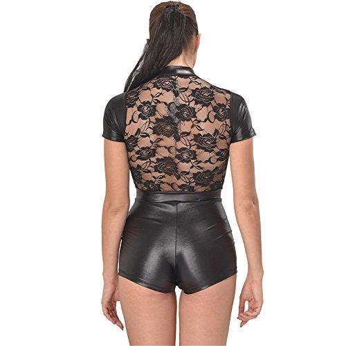 Meine Damen sexy Dessous, Europäischen und Amerikanischen großen sexy Dessous, Damen Unterwäsche Sexy Zipper, schwarze Spitze Frauen Unterwäsche Black
