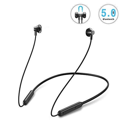 Bluetooth Kopfhörer in Ear, Mreechan IPX5 Wasserdicht Sport Kopfhörer, 8-Stunden-Spielzeit+HiFi-Stereo+Bluetooth 5.0, mit Mikrofon, Magnetisches Headset für iPhone, iPad, Samsung, und Huawei