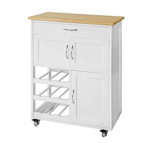SoBuy® Carrito de cocina, estantería de cocina, carrito de servir de alta calidad , FKW45-WN, ES