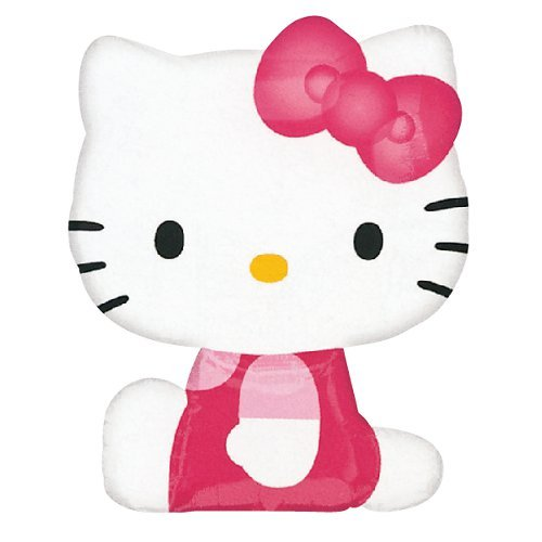 (Anagram 2175363 - Party und Dekoration - Folienballon Super Shape - Hello Kitty, circa 56 x 69 cm)