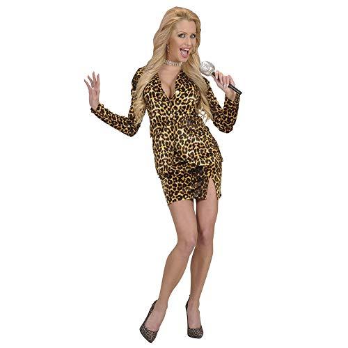 Turner Kostüm Tina - Widmann 7208W - Erwachsenenkostüm Pop Star im Leopardenlook, Größe XL