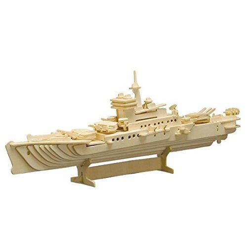 matches21 3D Kreuzer Schiff Holz Bausatz 47x17 cm Kinder Holzbausatz Bastelset Werkset Steckbausatz & Bemalen - ab 10 Jahren