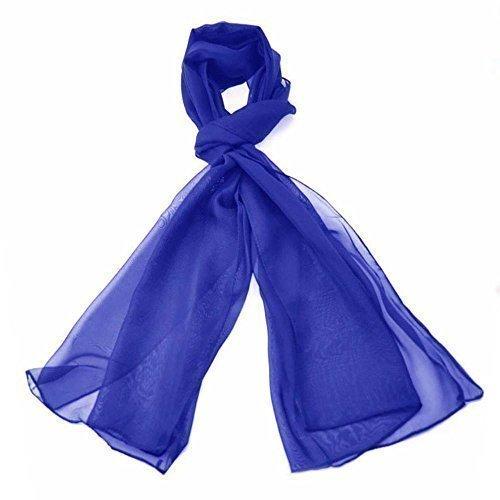 - 41dN48fp 9L - Chiffon Scarves Various Colour (Royal Blue)