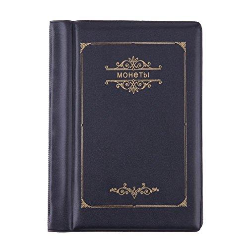 99cb1b7c4f Demiawaking 10 Pagine 120 Tasche Album di Monete Raccoglitore per Monete  Collezione di Monete Porta Monete
