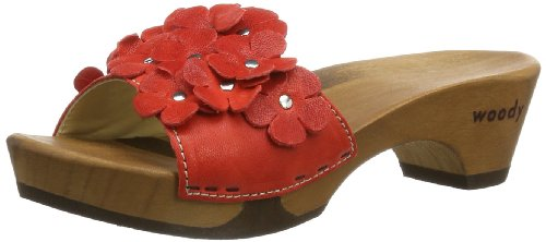 Woody  Lilli, sabots et mules femme Rouge - Rot (Dixan Rot)