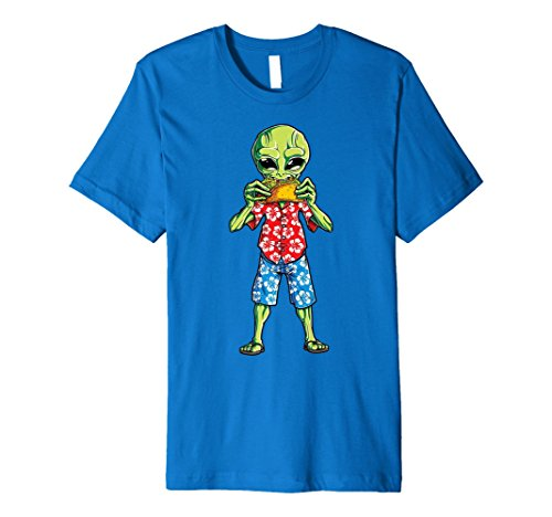 (Alien Taco T Shirt Retro 70's California Hawaiian Vintage)