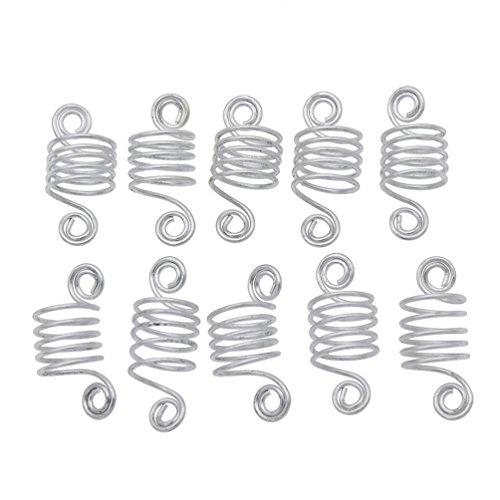 Ynuth 10pz dreadlocks perline anelli capelli per trecce fermagli capelli treccia cuff clip decorazione forma a spirale gioielli