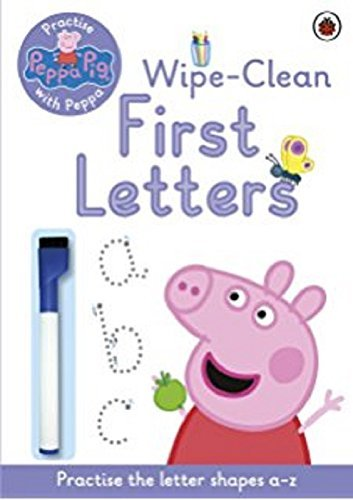 Peppa Pig: Practise with Peppa: Wipe-Clean First Letters Cover Image