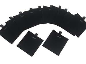 Black Velvet Pads for Pendants Charms Earrings, 5.7x5.3cm, Pakc of 12