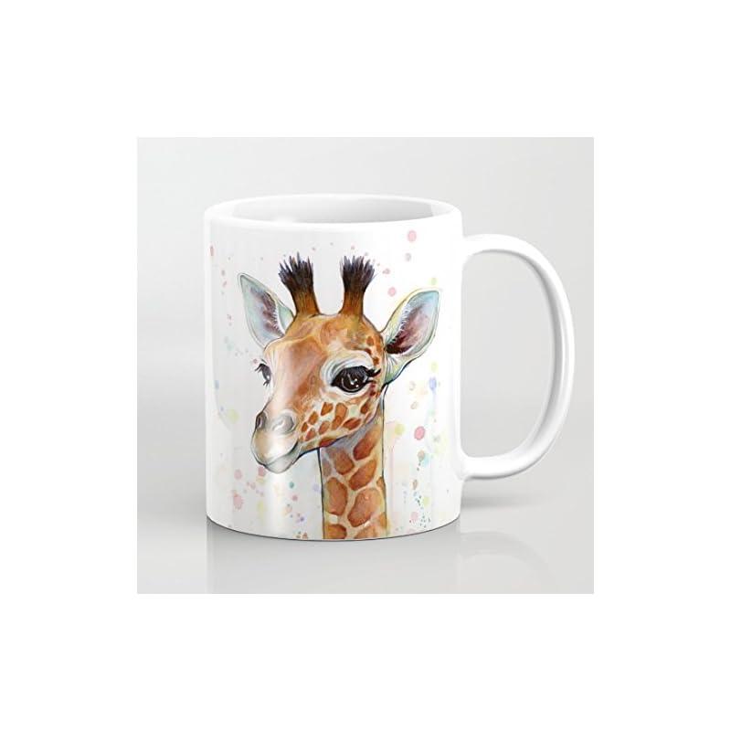 Watercolored Giraffe Coffee Mugs 11 OZ for Birthday Gifts Christmas Gifts Wedding Gifts
