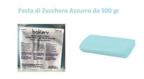 Cdc -Pasta Di zucchero Azzurro da 500 Gr. Decora Linea Bakery
