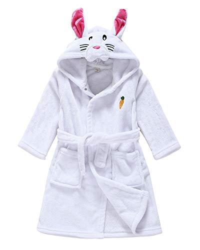 Cartoon Albornoz con Capucha Infantil De Niña Niños Animado De Pijamas Housecoat Conejo 120