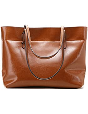 Panzexin Damen Echtes Leder Handtaschen Damen Henkeltaschen Elegante Umhängetasche für Damen weibliche Schultertasche