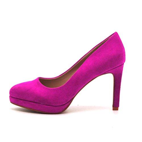 QPYC Signore tondo testa impermeabile Taiwan sottile tacco fine Tacchi alti ricamati bocca superficiale a punta singola scarpe occupazione banchetto scarpe da donna rose red