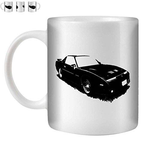 Stuff4 Tee/Kaffee Becher 350ml/Schwarz/1987 Firebird Trans Am GTA/Weißkeramik/ST10