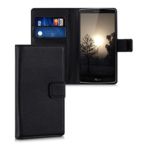 kwmobile Hülle für LG G Flex 2 - Wallet Case Handy Schutzhülle Kunstleder - Handycover Klapphülle mit Kartenfach und Ständer - Flex 2 Cover Lg
