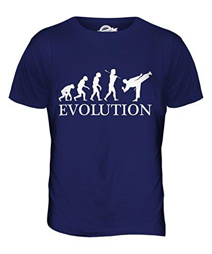CandyMix Jiu-Jitsu Evolution Des Menschen Herren T Shirt Navy Blau