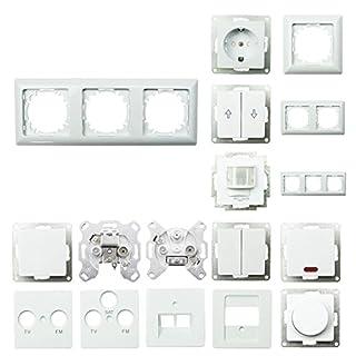 Steckdosen-System, Schuko Steckdosen, Rahmen, Schalter, Unterputz - 3fach Rahmen