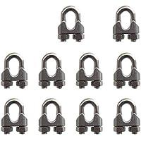 """SKKXY 10 piezas M5 acero inoxidable 1/5""""/5 mm cuerda de alambre de acero Abrazadera de cable U perno Sillín Cierre"""