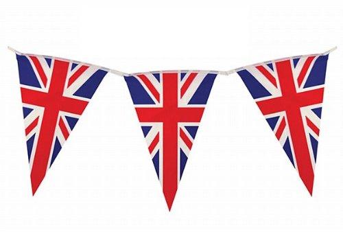 2,2m Wimpelkette * British Union Jack * mit 10 Wimpel // Bunting Flag Party Geburtstag Feier Fete Deko Motto Mottoparty Banner Partykette Girlande Fahnenkette England Großbritannien UK GB