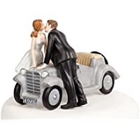 Cake topper sposi con auto - Sposo In Porcellana Wedding Cake Topper