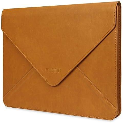 PLEMO Funda de Cuero para Ordenador Portatil/ MacBook/ MacBook Pro/ MacBook Air de 11- 11,3 Pulgadas
