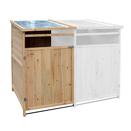 *Wiltec Mülltonnenbox Anbaubox Holz 240 L Gartenbox Mülltonnenverkleidung Mülltonne*