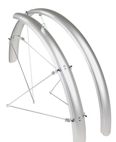 ETC Fahrrad-Schutzblech Silber Silber 700c x 25-32c (Fahrrad Silber Schutzblech)