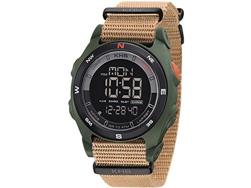 KHS Tactical Mens Watch Sentinel DC Olive | Nato Tan Chronograph KHS.SEDCO.NT