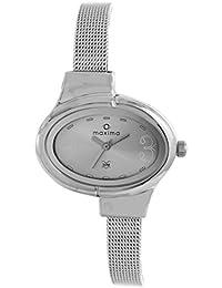 (Renewed) Maxima  Analog Silver Dial Women's Watch - 25220CMLI