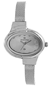 (Renewed) Maxima  Analog Silver Dial Women's Watch - 25220CMLI