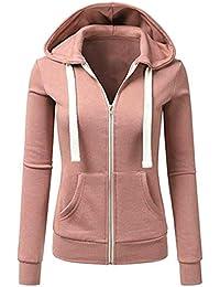 Sport Manteau Femme Veste,Manches Longues Patchwork Couleur Unie Skinsuits  Zipper Bringbring bd6ac29d5ea4