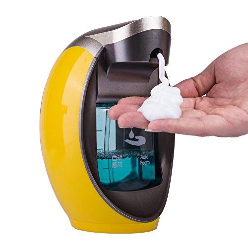 Yooap Auto-induction Sensor Pompe 480 ml/16 g Distributeur automatique mains libres Distributeur de savon pour salle de bain, cuisine ou réceptions d'hôtels
