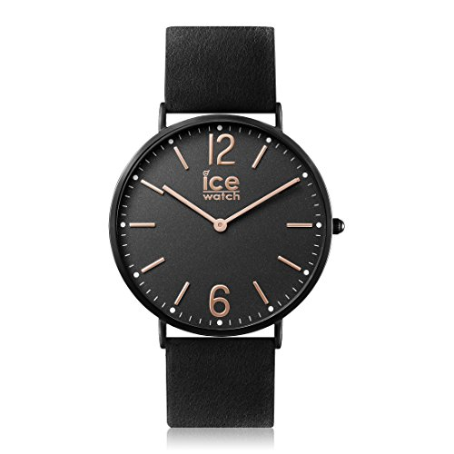 Ice-Watch - City Cottage - Montre Noire Mixte avec Bracelet en Cuir - 012827 (Small)