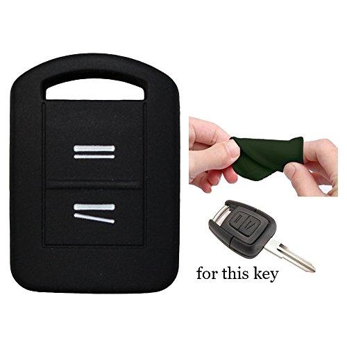 muchkey Silikon KFZ Schlüssel Cover Case Skin Jacket Fit für Opel Vauxhall Corsa Agila Meriva Combo 2Button Smart Shell 1Stück Neu