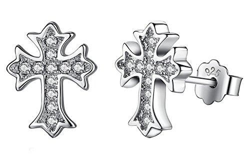 saysure-925-sterling-silver-crystal-cross-stud-earrings