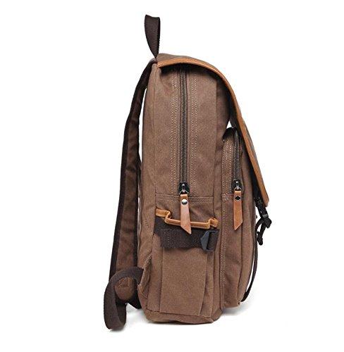 LF&F Neue Segeltuchschulterbeutel Rucksack Outdoor-Freizeit Reisen Reiten Bergsteigen Tasche Paar Taschen Schultaschen Weekender Gepäck Mehr Taschen Knapsack D