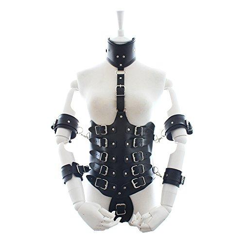 Fetisch Dessous, Verstellbare Sexy Sklavin Kleidung, Hotel Tänzerin Kleidung, Kostüm Geburtstagsfeier, Paar BDSM Bondage Toys,Black (Kostüm Sklavin)