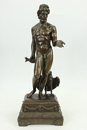 Statua di bronzo Scultura...Spedizione Gratuita...Nude romano uomo in piedi con Uccello Aquila Falcon(XN-0995-JP)Statue Figurine Figurine Nude per ufficio e casa Décor Primo Giorno Collezionismo Arti - Aquila Scultura In Bronzo