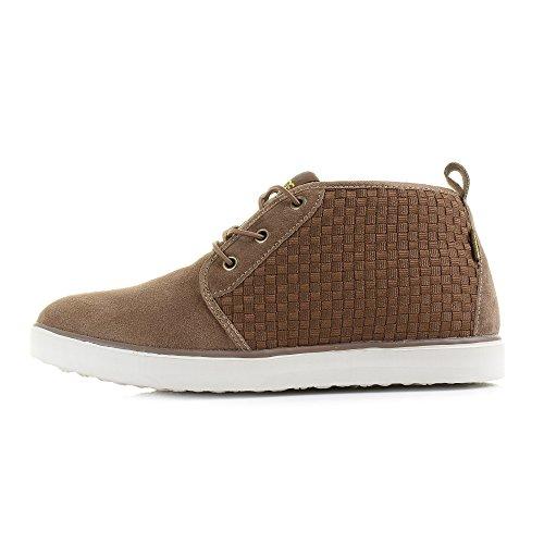 Dude Shoes Men's Terni Brown Suede Chukka Boot Brown