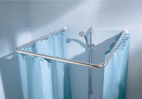 Kleine Wolke Universalstange für Dusche oder Badewanne Farbe Weiss 3 Grössen Ø 25mm